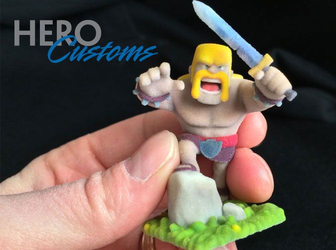 Clash of Clans Barbarian by HEROCustoms available for a limited time at Shapeways! bit.ly/1jVQ6rr