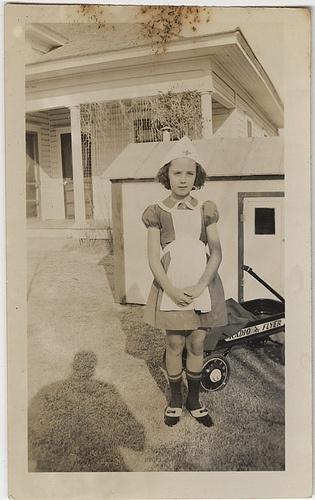 The Little Nurse - San Benito, Texas, Christmas Morning, 1930