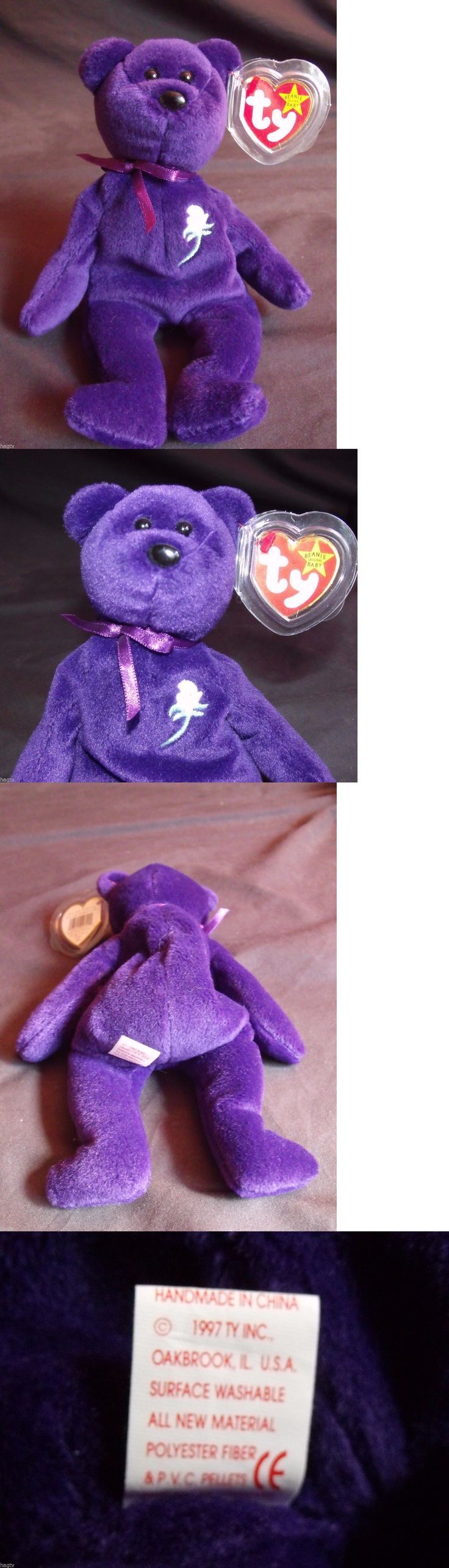 Retired 1636: 1997 Authentic Ty Beanie Babies Princess Diana Di 1St Edition Pvc China No Space -> BUY IT NOW ONLY: $19999.95 on eBay!