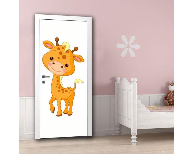 Cute girrafe, αυτοκόλλητο πόρτας παιδικό , δείτε το!
