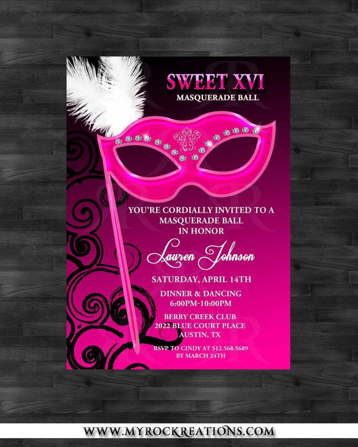 Invitation Masquerade Ideas | Masquerade Quinceanera Invitations ...