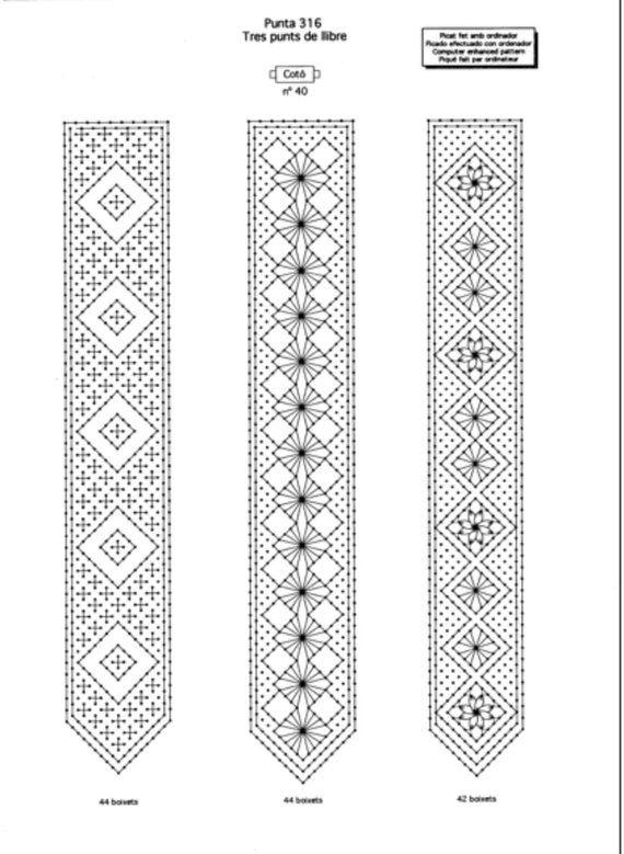 PATTERN, LACE learn. bobbin lace | mundillo panameno | Pinterest ...