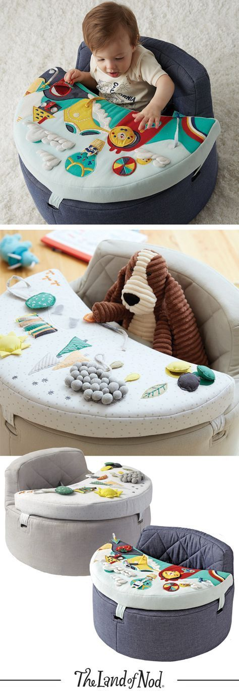 Keep your baby's senses stimulated with an exclusive baby activity chair. With opening flaps, squeaky toys, mirrors and more, there's more than enough to keep any baby busy for hours.