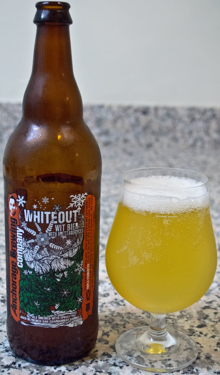 Anchorage's Whiteout Wit - This is a really great and complex Witbier, that is definitely a step more bold than your average Witbier. The base beer itself captures the elements of the style well, while the Brett really adds some great complexity to the beer. I like the funkiness and extra tartness added to the beer and the end result is a super refreshing and balanced beer.