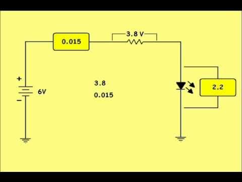 Parte 2 cálculo de resistencia para conectar un LED a cualquier bateria ...