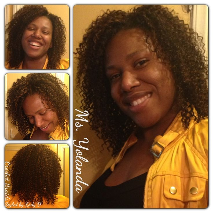 Sew-in w/ crochet braid closure method for natural finish. Natural ...