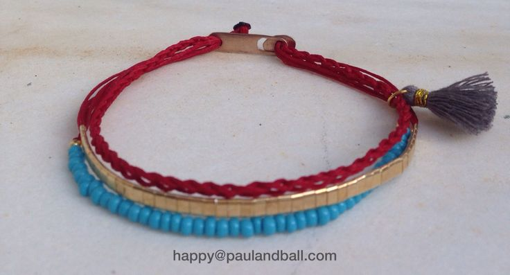 Sterling silver bracelet (Gold coated) with crochet knitted cord