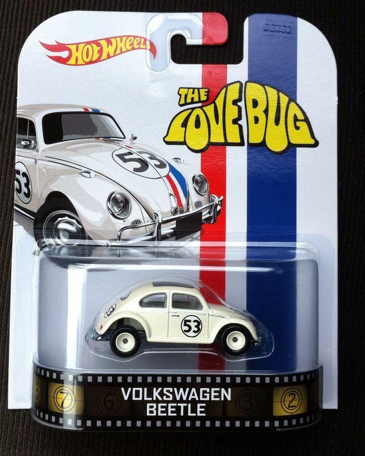 2014 HOT WHEELS RETRO ENTERTAINMENT HERBIE THE LOVE BUG VW BEETLE - MIP