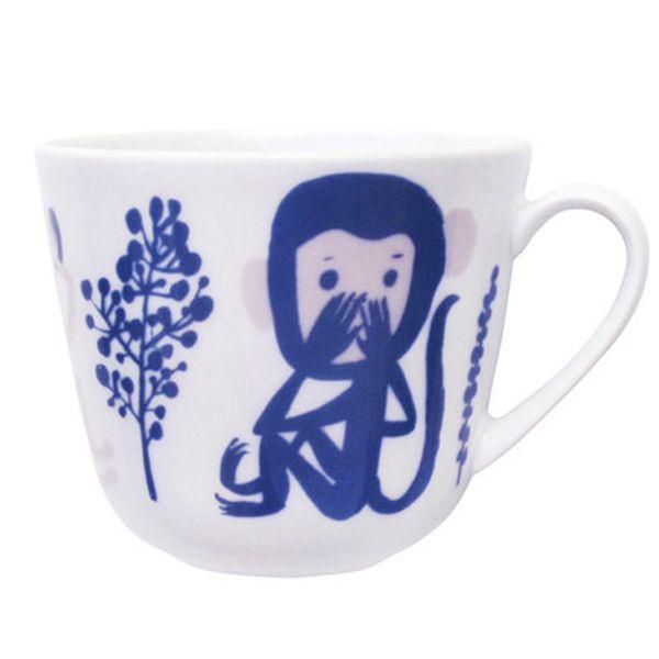 Kauniste's Monkey mug, blue