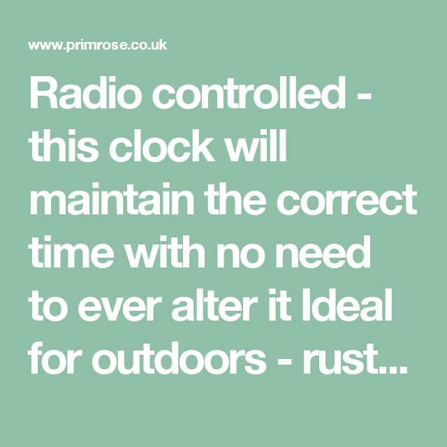 Radio controlled - this clock will maintain the correct time with no need to ever alter it Ideal for outdoors - rust-proof metal casing with glass protecting the clock face Clear and easy to read Roman numerals Stunning ornate design - will become a focal point in any garden