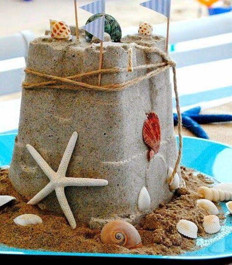 Beach Party Decorations Diy: DIY Sandcastle Centerpiece