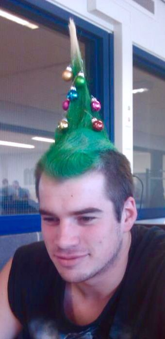 17 Best Images About Crazy Christmas Hair On Pinterest