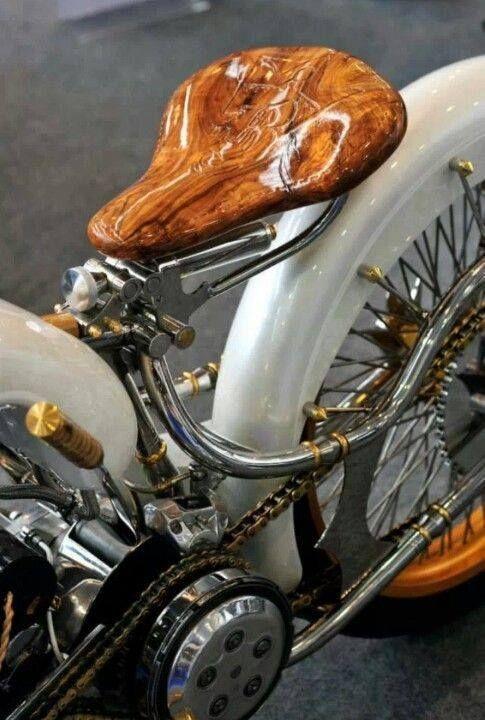 Suicide clutch & Wooden Seat #motorcycle #bike