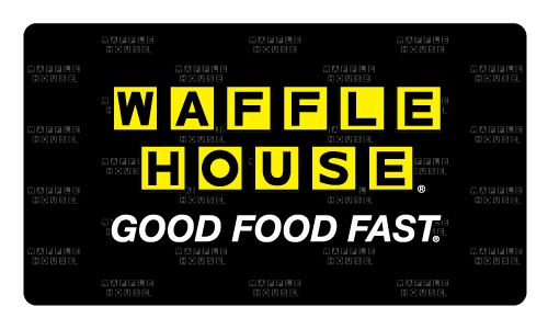 The Waffle House Gift Card is HERE!       Buy a Gift Card  Check your balance  Reload your Gift Card     Questions?  See our FAQ for more information.