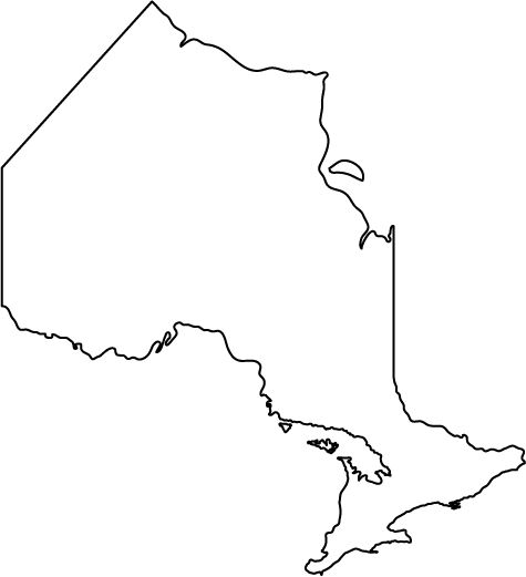 Ontario Canada Outline map