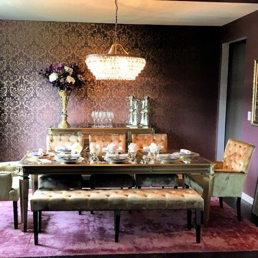 17 best ideas about purple dining rooms on pinterest purple dining room furniture purple Purple accent wall in living room