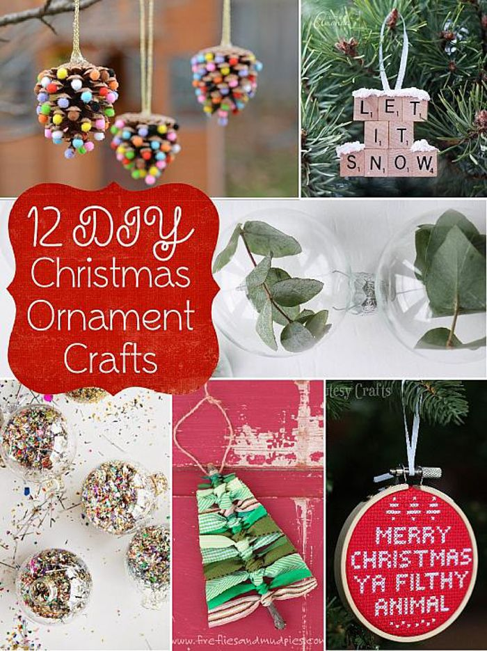 DecoArt Blog - Crafts - 12 DIY Christmas Ornament Crafts - 25 Best DIY Projects You Need Right Now DIY Pinterest