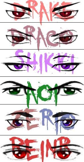 OC Eye's and Names (male) #1