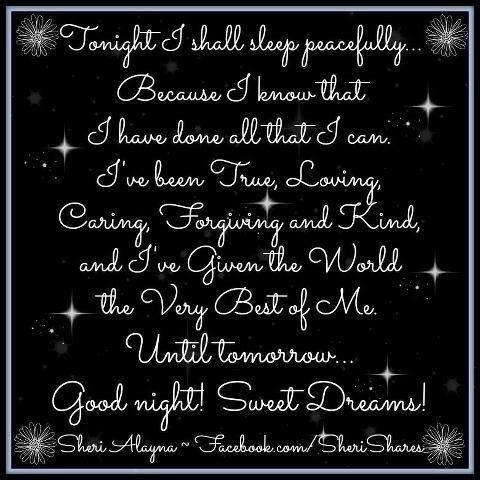 Good night qoutes