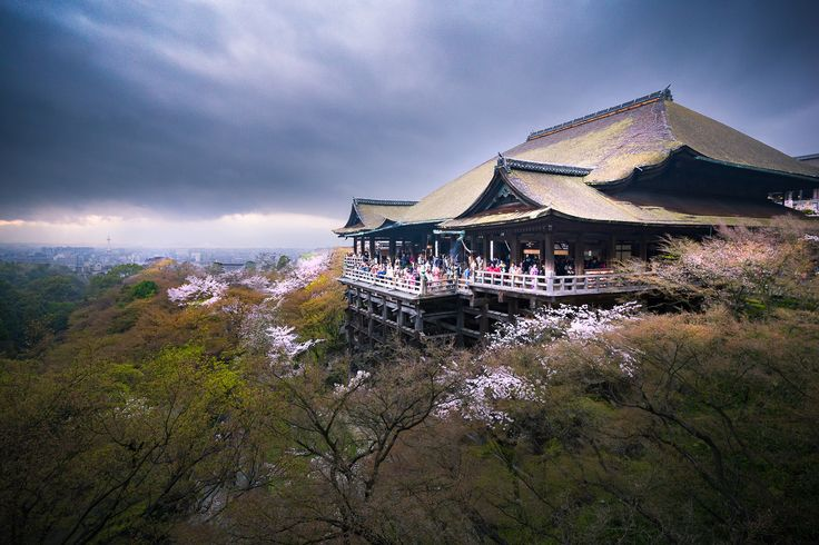 https://flic.kr/p/Wsro5V | Kiyomizu-dera in spring, Kyoto | Kiyomizu-dera (清水寺), is an independent Buddhist temple in eastern Kyoto. The temple is part of the Historic Monuments of Ancient Kyoto (Kyoto, Uji and Otsu Cities) UNESCO World Heritage site.  Kiyomizu-dera was founded in the early Heian period. The temple was founded in 778 by Sakanoue no Tamuramaro, and its present buildings were constructed in 1633, ordered by the Tokugawa Iemitsu. There is not a single nail used in the entire…