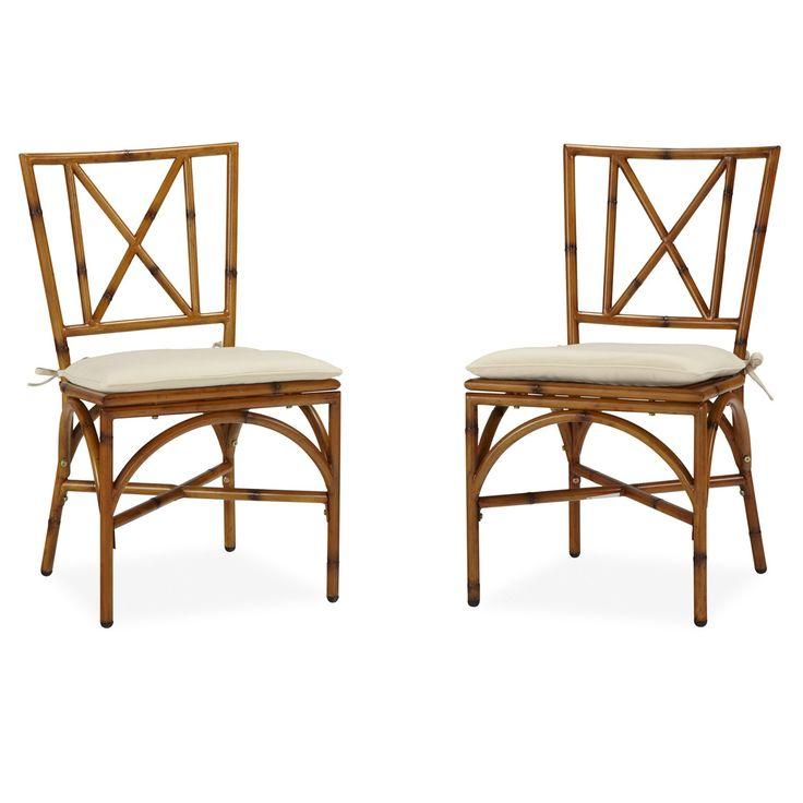 Home Styles Bimini Jim Dining Chair Pair with Cushion (Bimini Jim