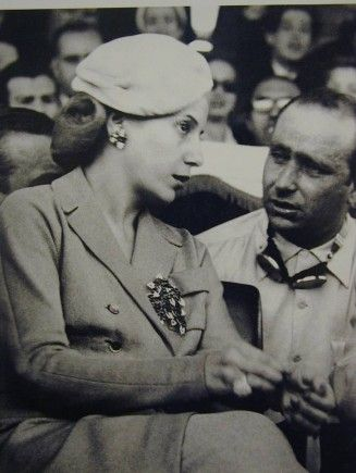 This year marks 60 years since the death of Eva Peron.In this picture Fangio is with her.