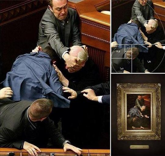 E esses caras brigando na Ucrânia que parecem um quadro renascentista?