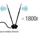 WiFi-N MIMO 2T2R Mod. AW1800. Antena con tecnología MIMO Smart. Compatible con múltiples BSSID. Equipada con tecnología 2T2R, con 2 antenas x 12dBi cada una con lo que se mejora la recepción de la señal hasta 10 veces y aumenta la velocidad 10x.
