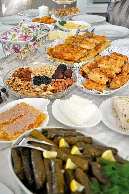 Ablam'ın kahvaltı masası