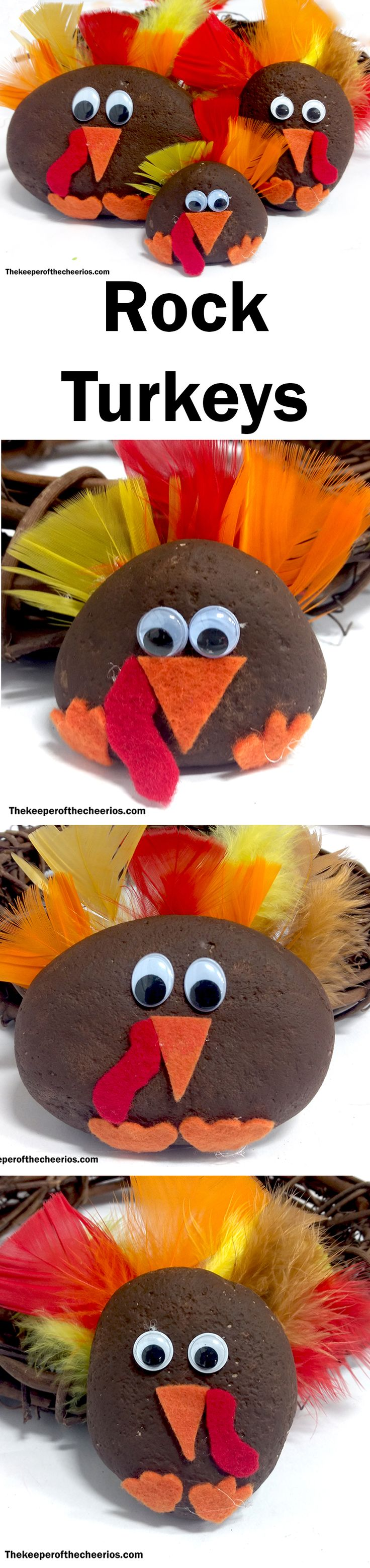 Painted Rock Turkeys