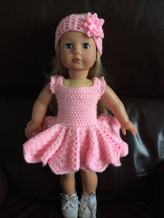 This pattern is for a dress and headband set. It uses dk yarn and a 4mm hook  The pattern is in a PDF format and will be emailed upon receipt of payment.  My patterns contain a conversion chart for stitches and hooks and threads  The pattern may be used to make the outfit but cannot be