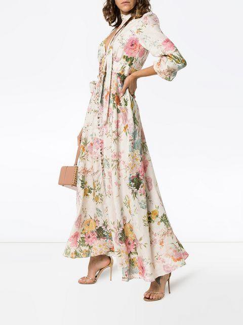 0dec08530571e Zimmermann Heather Garden Floral Print Maxi Dress in 2019 | DRESSES ...