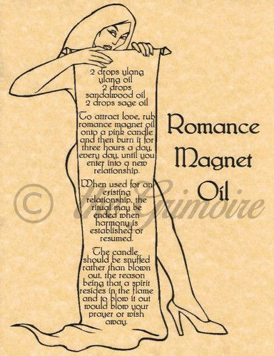 Romance Magnet Oil, Book of Shadows Spell Page, Witchcraft, Wicca, Pagan FOR SALE • $1.79 • See Photos! Money Back Guarantee. Book of Shadows Page One of a kind Design by The Grimoire Archival Quality Parchment Paper: Will not degrade or fade over time! 8.5 by 11 inches Letter Size Paper 272743449375