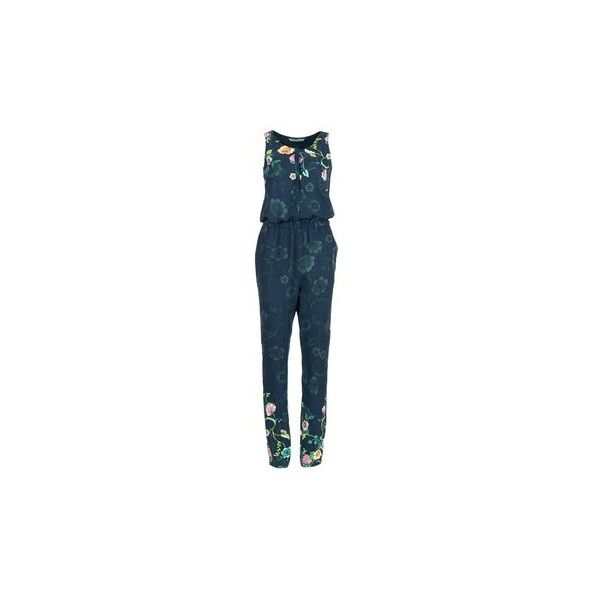 Desigual RETOL Jumpsuit (£75) ❤ liked on Polyvore featuring jumpsuits, blue, blue jump suit, holiday jumpsuits, blue jumpsuit, evening jumpsuits and cocktail jumpsuit