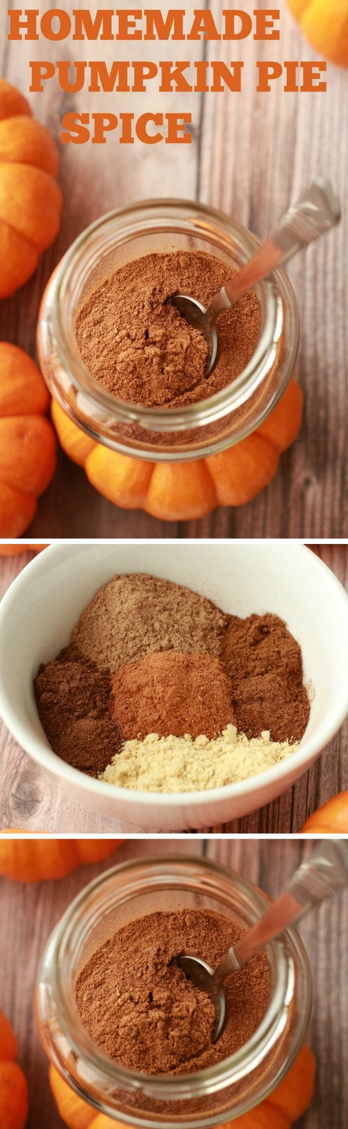 Easy 5-ingredient pumpkin pie spice recipe! Perfect for fall recipes, like pumpkin pies, pumpkin spice lattes, pumpkin smoothies and pancakes!