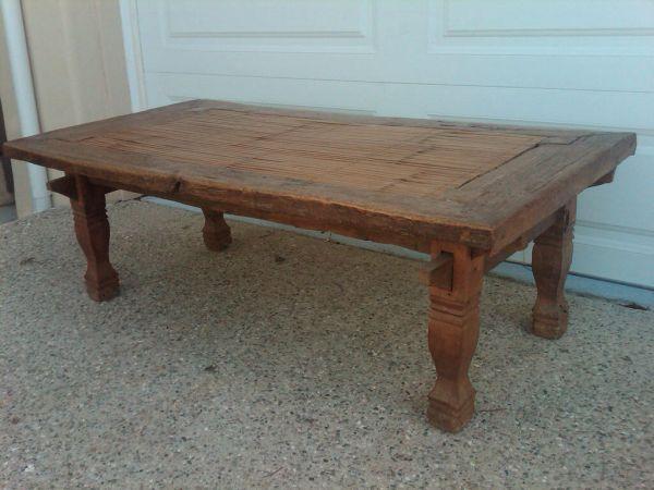 Pre-loved teak and bamboo coffee table on Craigslist Santa ...