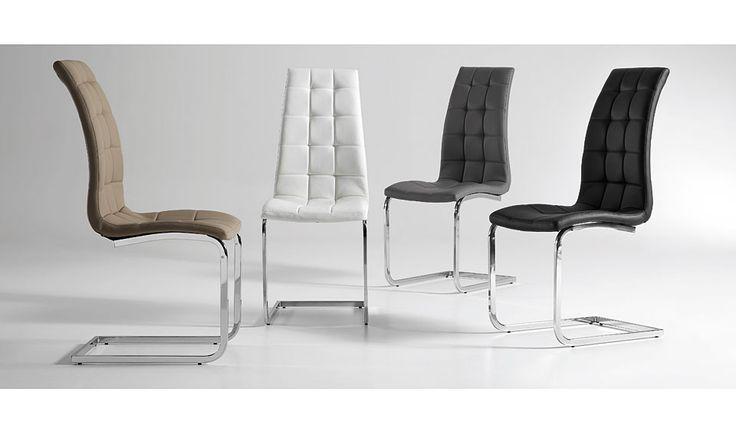 Silla Moderna Winter   Material: Metal   Silla con pies cromados tapizada en piel sintetica.... Desde Eur:85 / $113.05