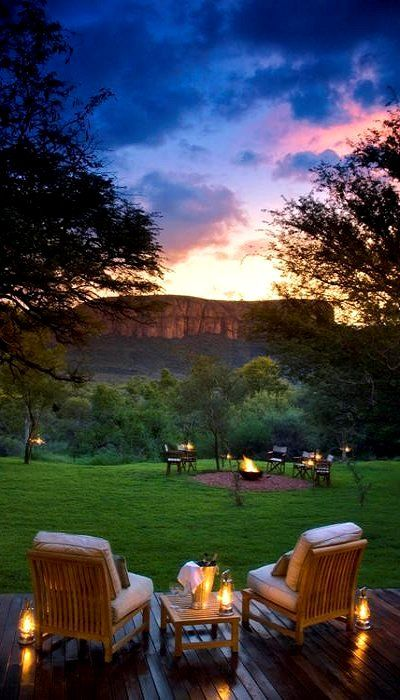 South African sunset (Marakele National Park, South Africa)