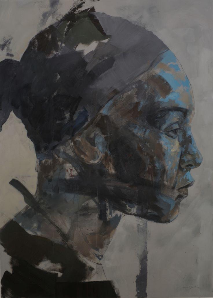 Residue series 1, 230cm X 165cm, Oil on Canvas