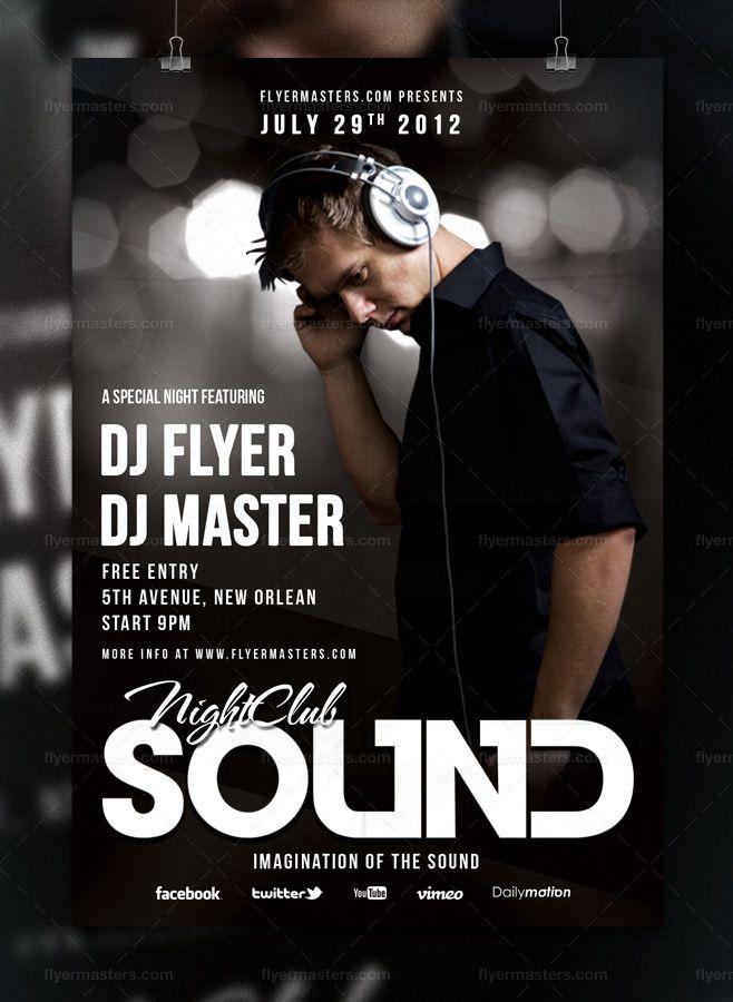 Sound Flyer / Poster (free) by FlyerMaster.deviantart.com on @deviantART