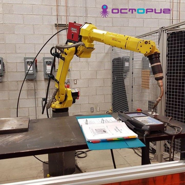 Some pretty cool research is going on at @conestogacollege using a @fanucamerica #robot #welding equipment provided by @lincolnelectric with a @abicor_binzel #torch and a beta version of our soon to be released #OCTOPUZ 2.0!     #ArmedwithOCTOPUZ #welding #fanuc #robotics #powermode #ABIROB #ARCMATE #AM @conestoga_cwa #programming #automation #conestogac #binzeltorch #lincolnelectric