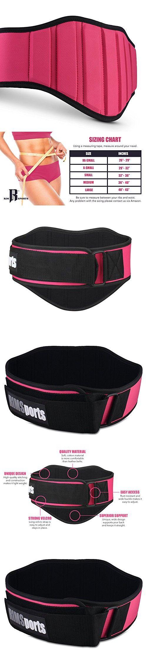 Premium Weightlifting Belts Women & Men - Ideal Squat Belt For Gym, & Squats - Best Belt Weightlifting For Lift Weights Equipment And Weights - Durable Belt Weight Lifting (Pink XS)