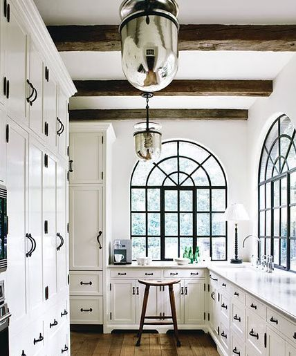black pulls on white cabinets?