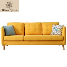 TOIN Three Seat Sofas Set Living Room Furniture Moveis Modern Furnitures Three Seaters Sofas China Yellow A37(China)