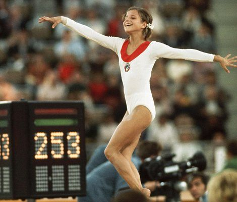 Olga Korbut. She personified style and grace at the 1972 Munich Olympics.