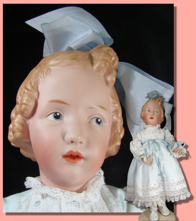 Porcelain Dolls for Sale - Die Schwester (the Sister) in Blue