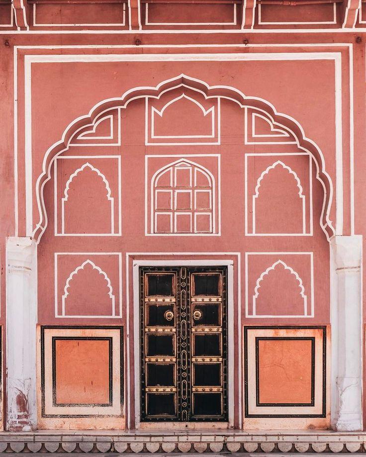 Pink city colors #Jaipur #door #India City Palace, Jaipur