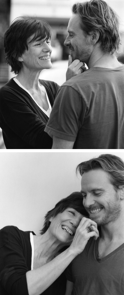 Fassy and his mom... I am late to the party for this leading man. He is one to watch for years to come!
