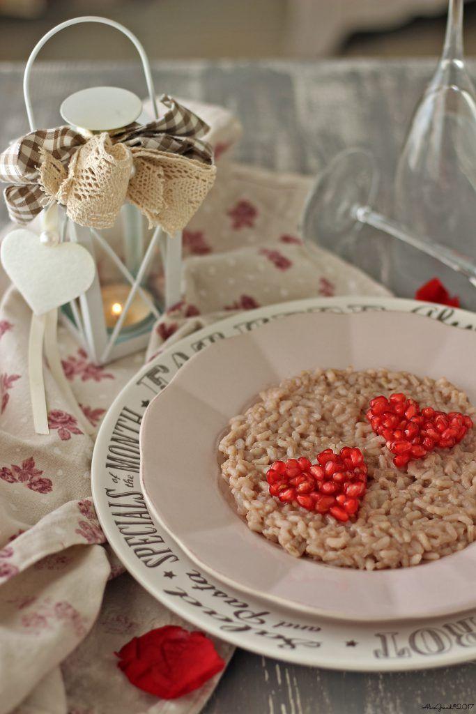 Risotto alla melagrana con tahin | Pomegranate risotto {vegan recipe} | RicetteVegolose