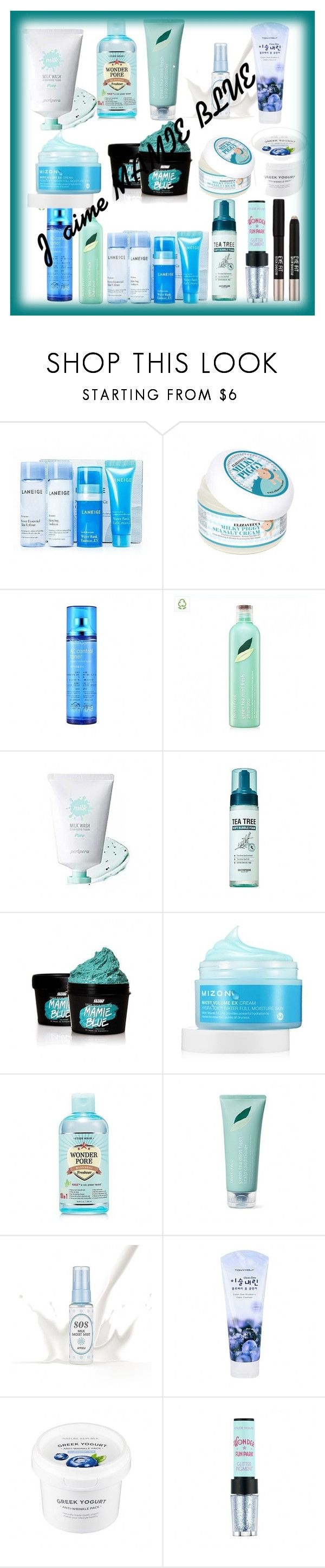 """""""J'aime MAMIE BLUE"""" by annbs ❤ liked on Polyvore featuring beauty, SkinCare, Innisfree, peripera, Etude House, TONYMOLY, Missha, contest and MamieBlue"""
